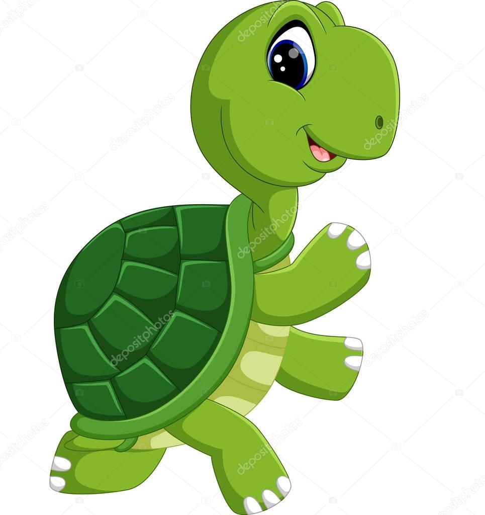 süße Schildkröte cartoon — Stockvektor © hermandesign2015@gmail.com ...