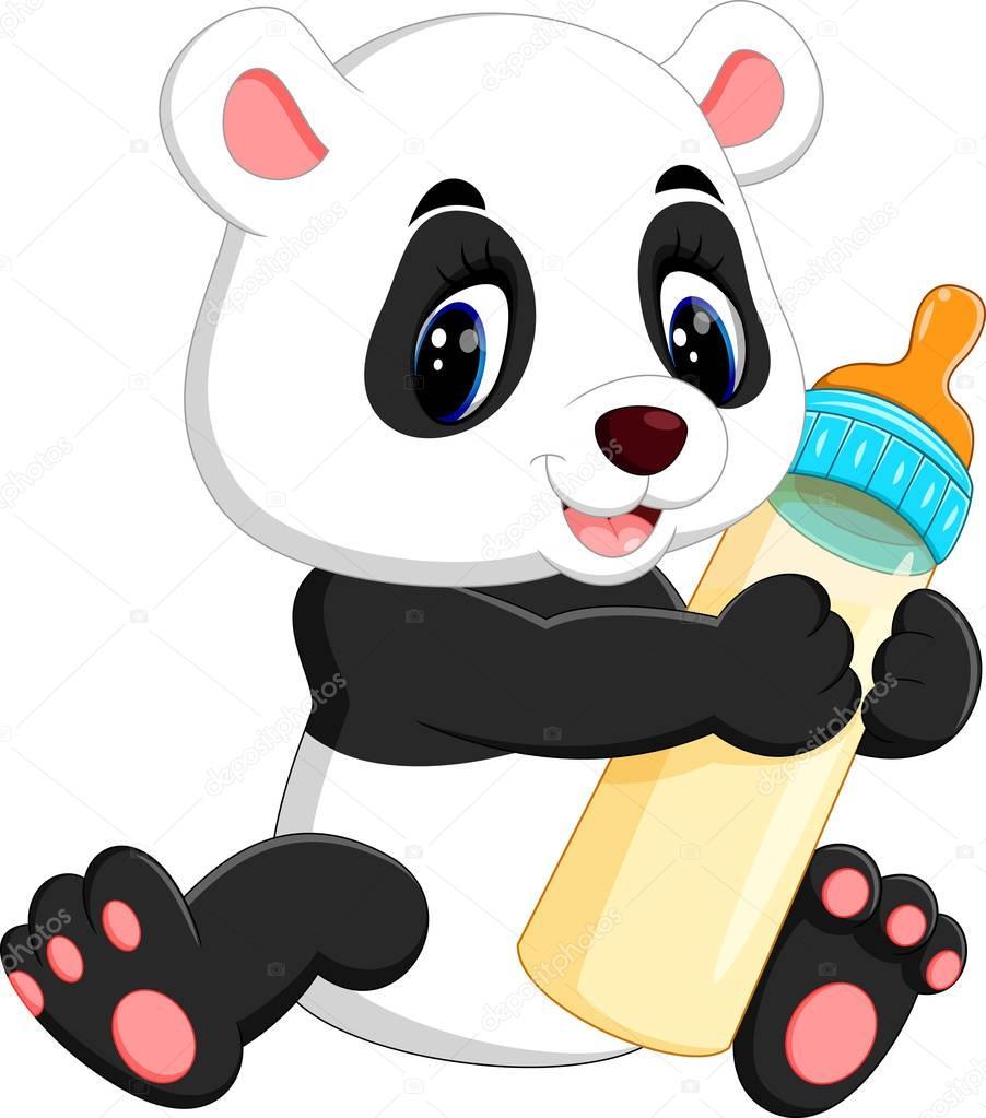 Illustration Of Cute Baby Panda Cartoon Stock Vector