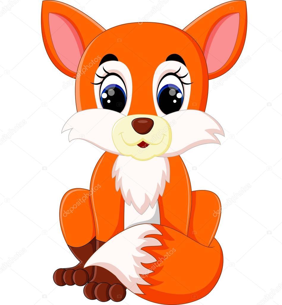 Cartone animato carino volpe — vettoriali stock