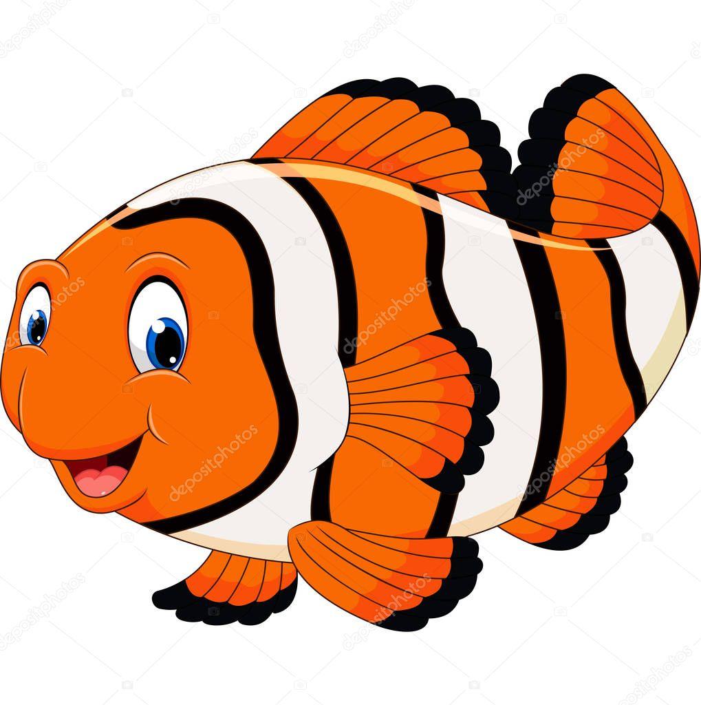 Cute clown fish cartoon stock vector hermandesign2015 for Clown fish price