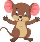 Roztomilé myši karikatura