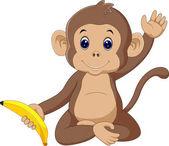 Roztomilý opice kreslený