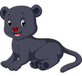 Fotografia Simpatico cartone animato della pantera nera