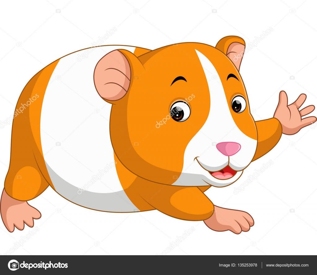 Dessin anim mignon hamster image vectorielle - Hamster dessin anime ...