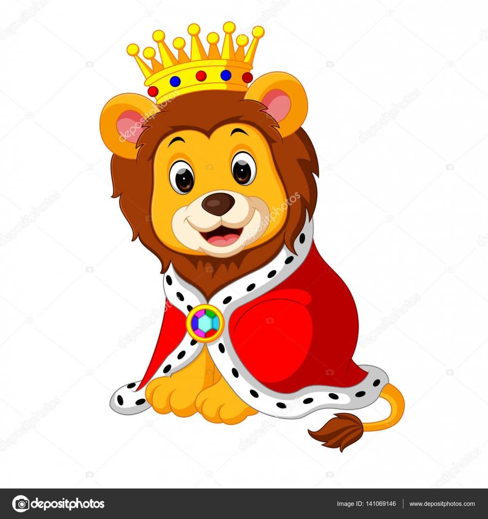 Desenho Animado Leão No Rei Roupa