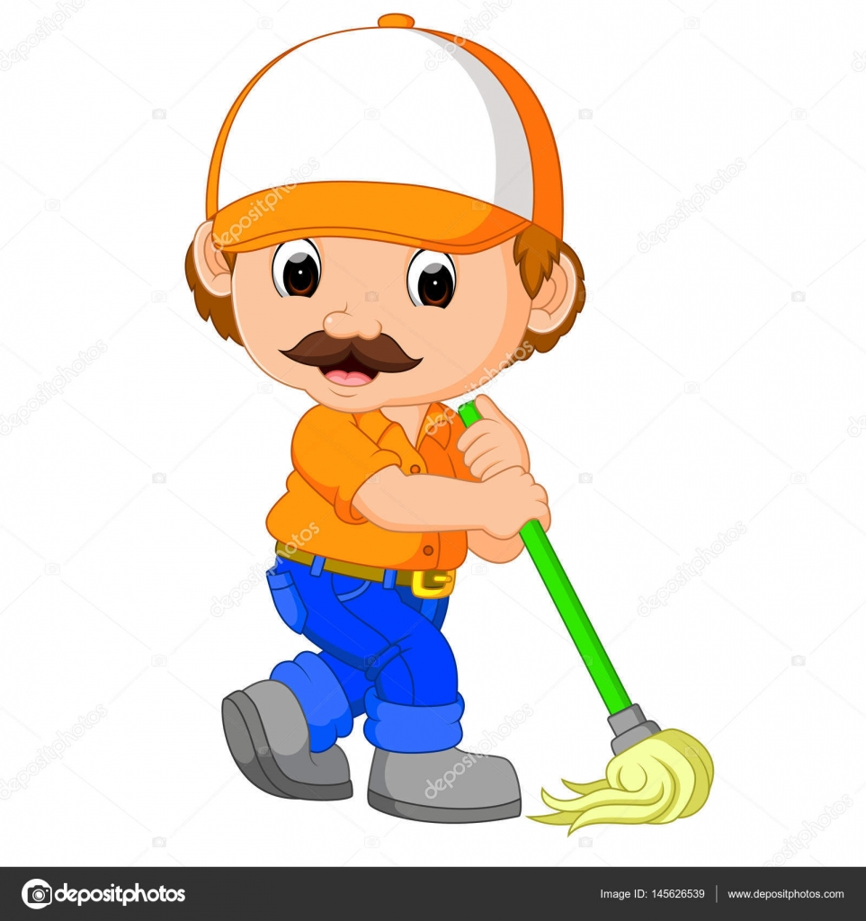 Funny cleaning service — Stock Vector © hermandesign2015