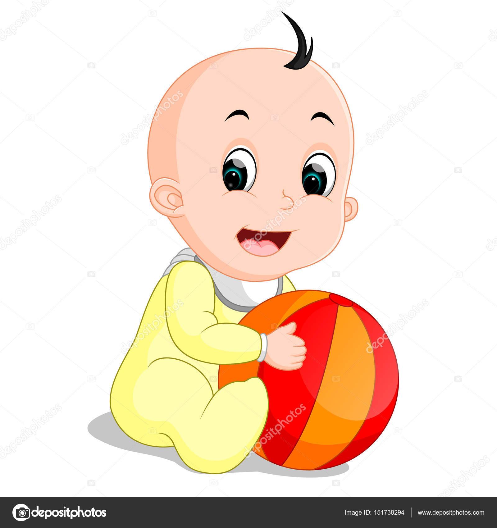 imagens de desenho de bebe gatinhando colorido