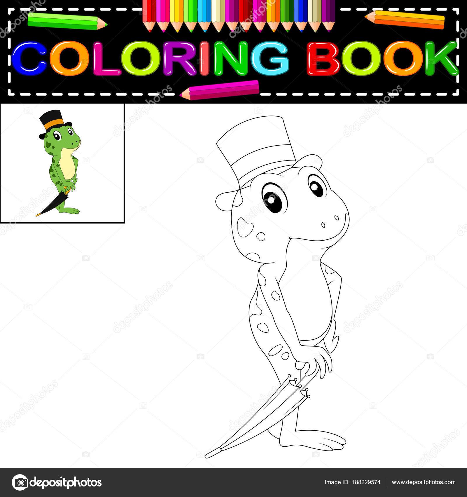 cute frog coloring book stock vector hermandesign2015 gmail com