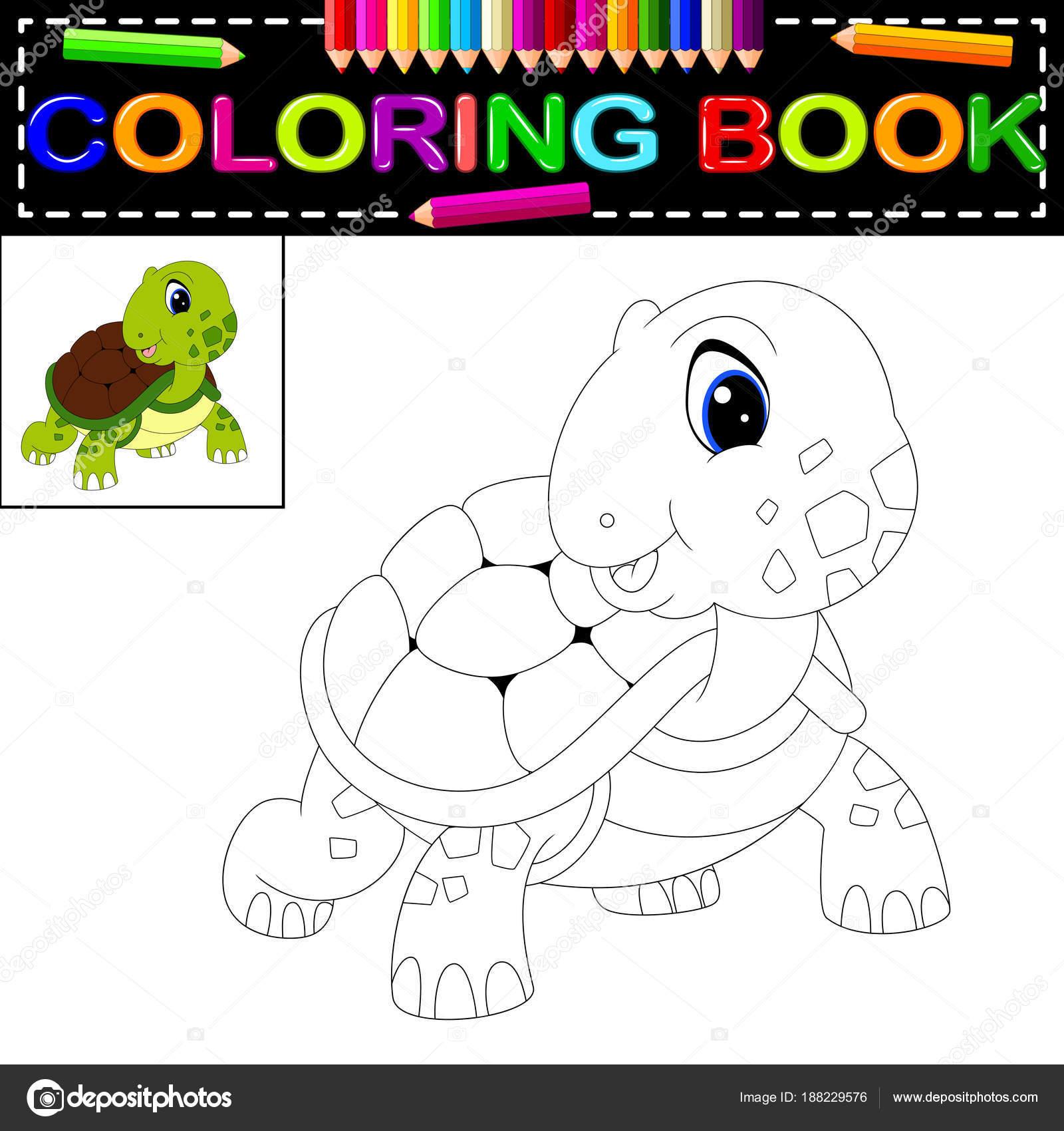 Niedliche Schildkröte Malbuch — Stockvektor © hermandesign2015@gmail ...