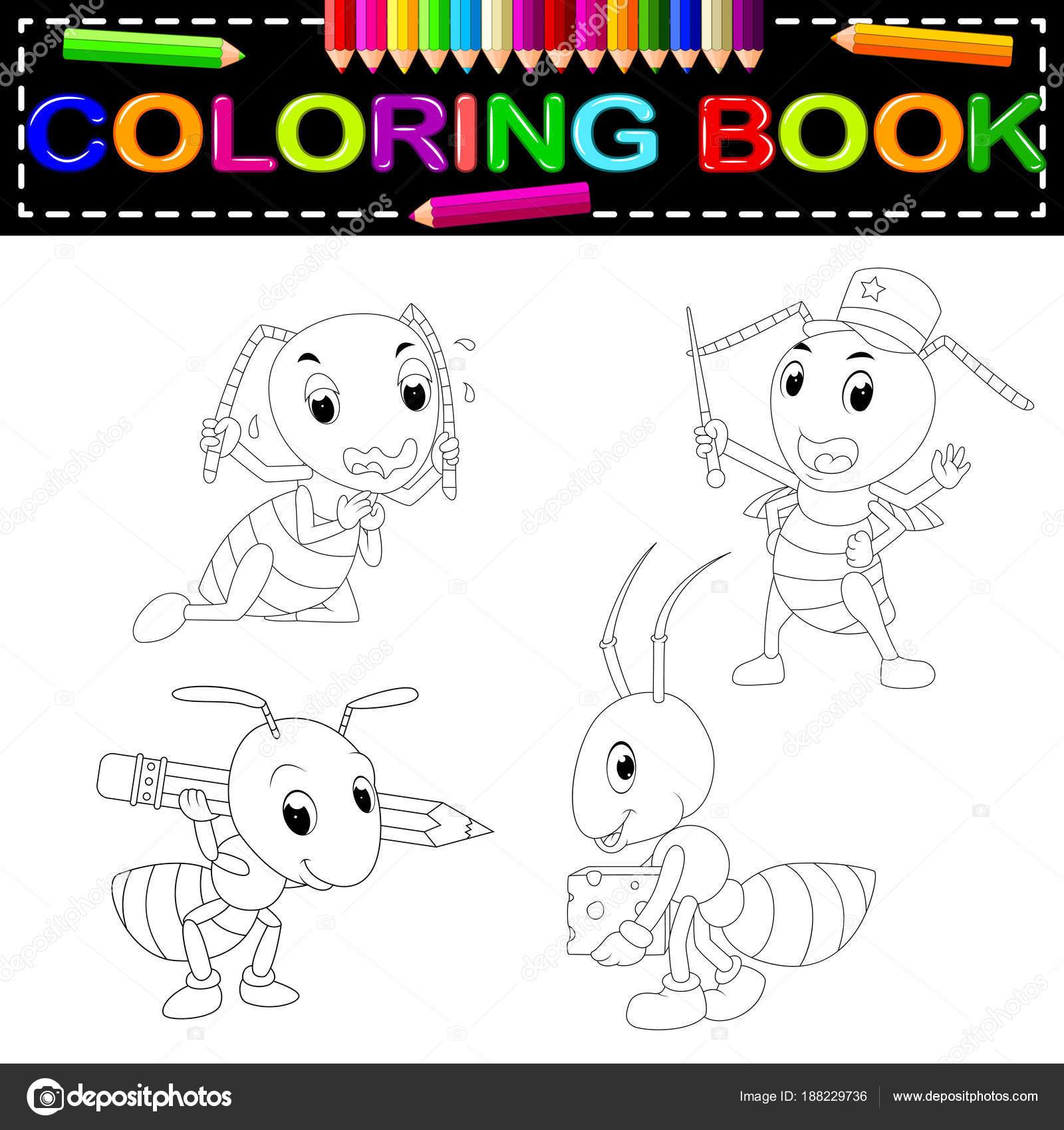 şirin Karınca Boyama Kitabı Stok Vektör Hermandesign2015 At Gmail