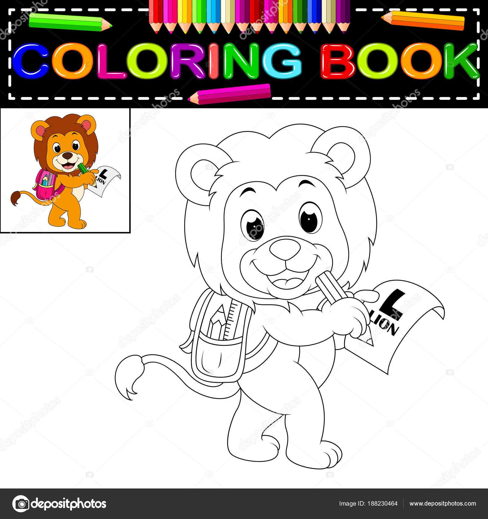 Süße Löwen Malbuch — Stockvektor © hermandesign2015@gmail.com #188230464