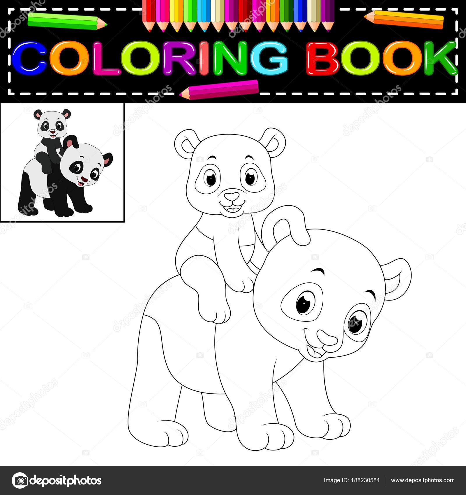Boyama Kitaby Panda Resim Cizmek