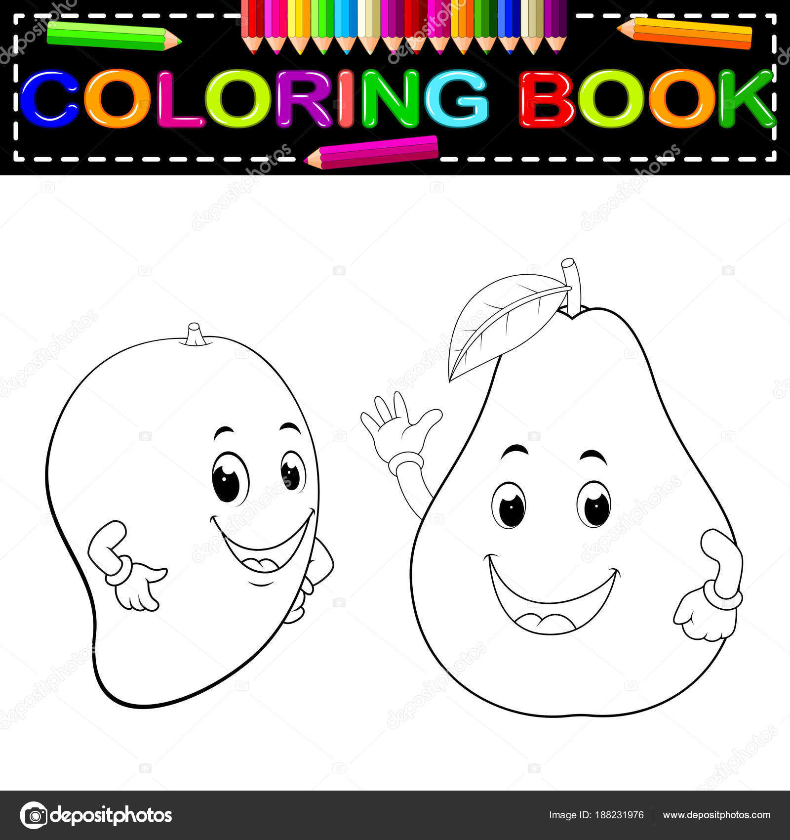 Dibujos Carita Sonriente Para Colorear Mango Aguacate Con
