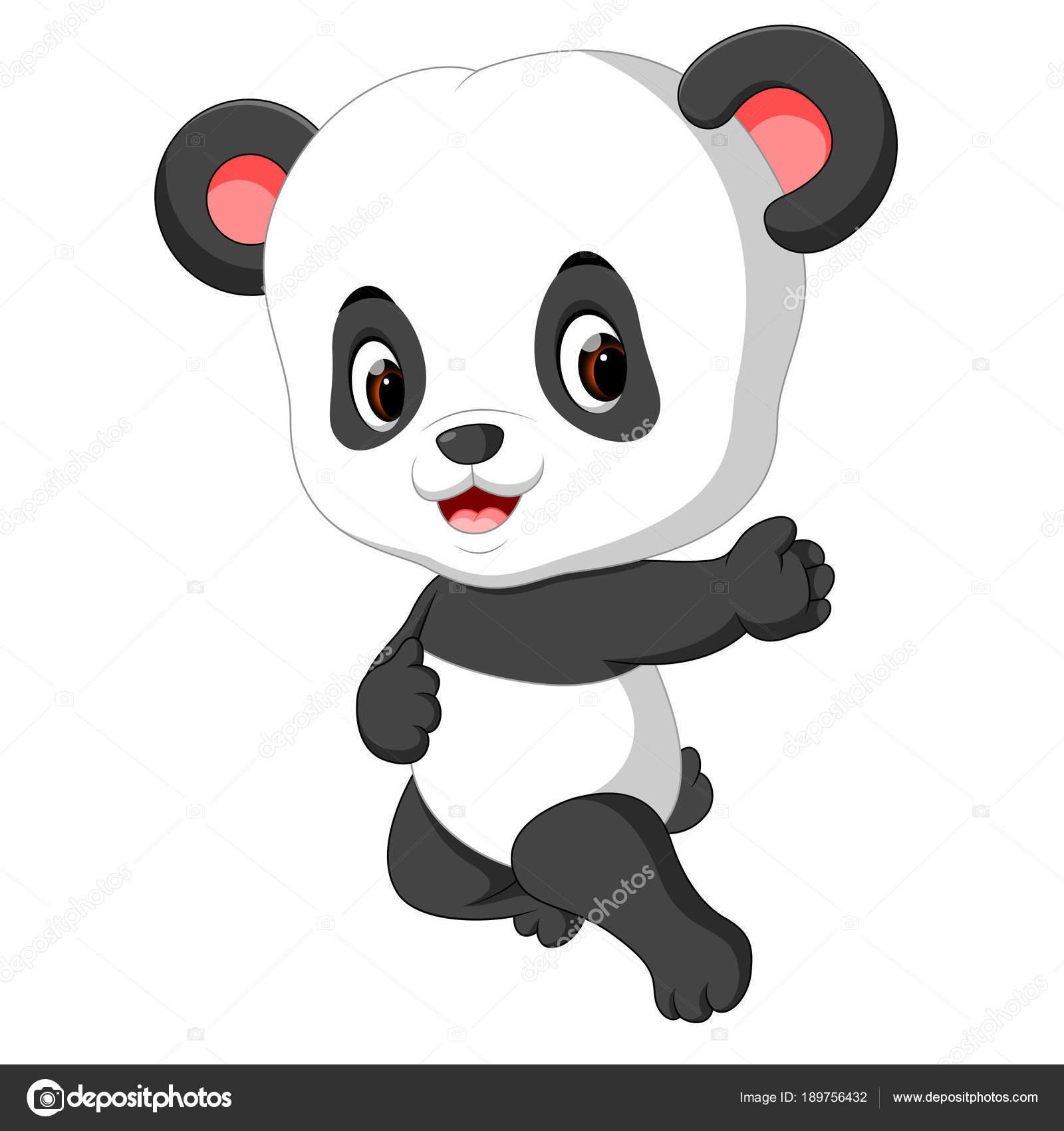 Panda Bebê Bonito Dos Desenhos Animados Vetores De Stock