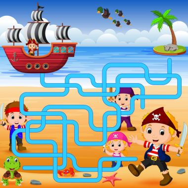 Can you help the pirate to find his ship