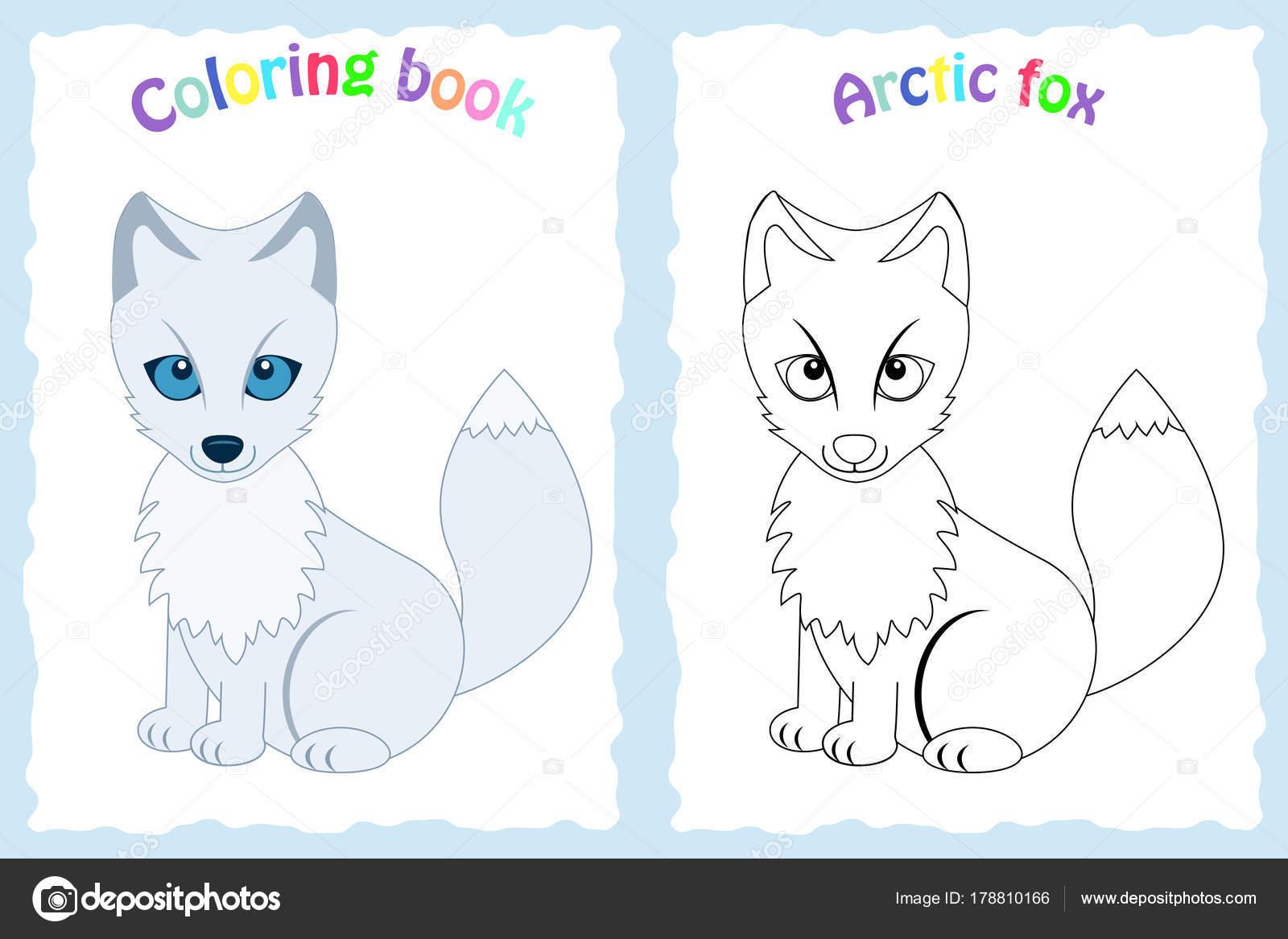 Libro de colorear para niños preescolar con colorido el zorro del ...