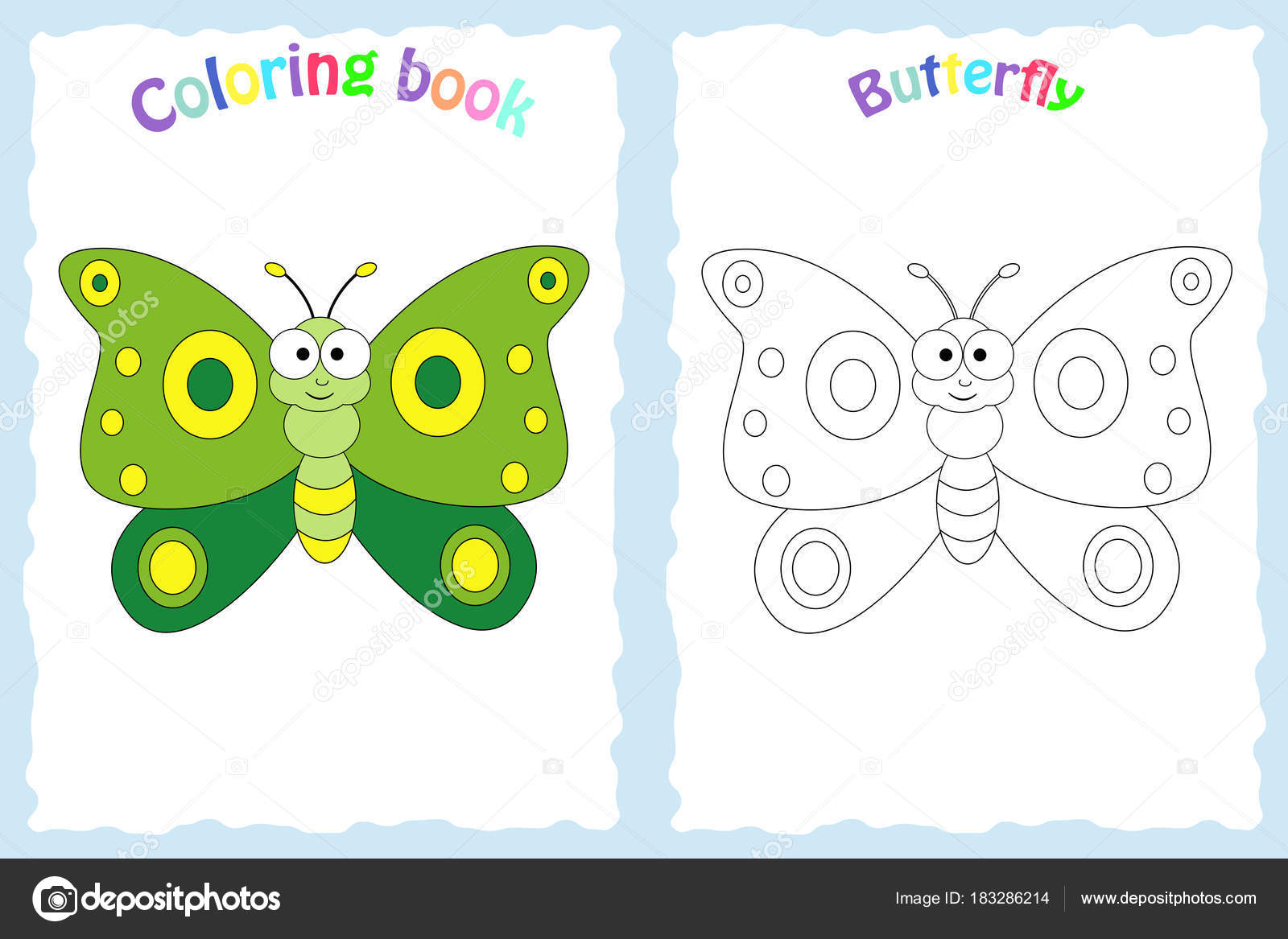 Coloring book page for preschool children — Stock Vector © BudOlga ...