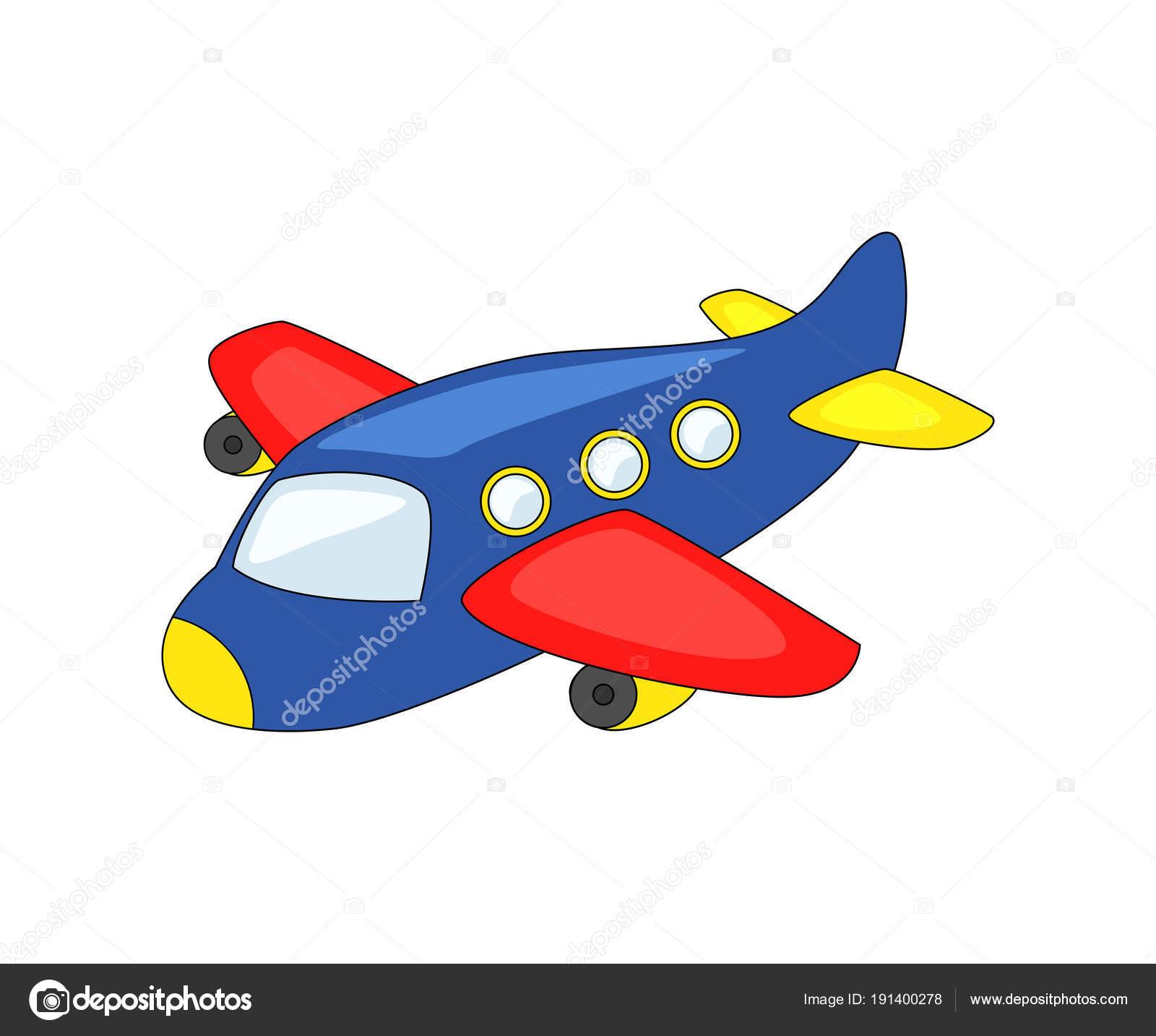 Avión De Dibujos Animados Lindo
