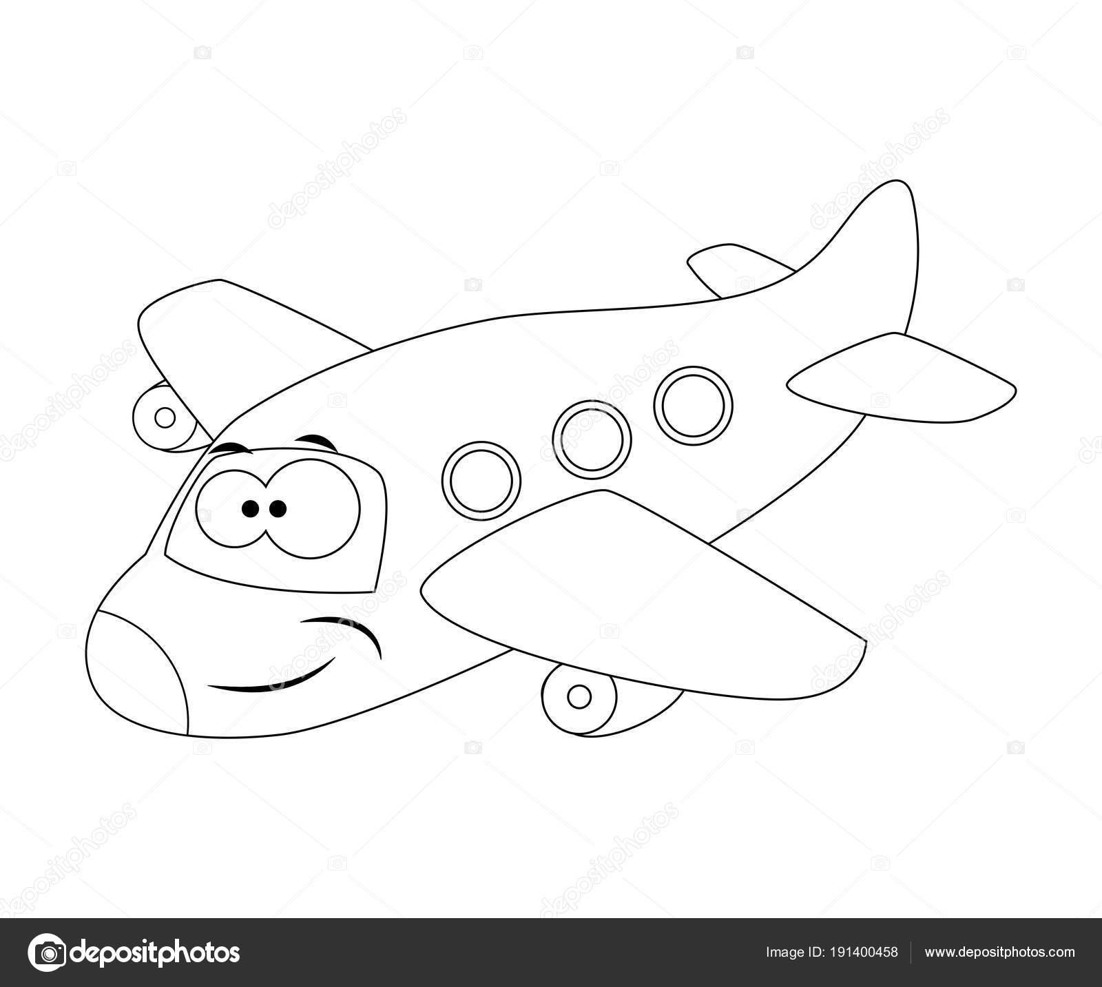 Imágenes: Aviones En Caricatura Para Colorear