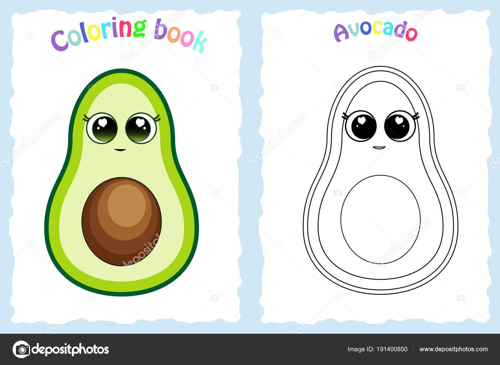 Dibujos Para Niños De Aguacate Libro De Colorear Para