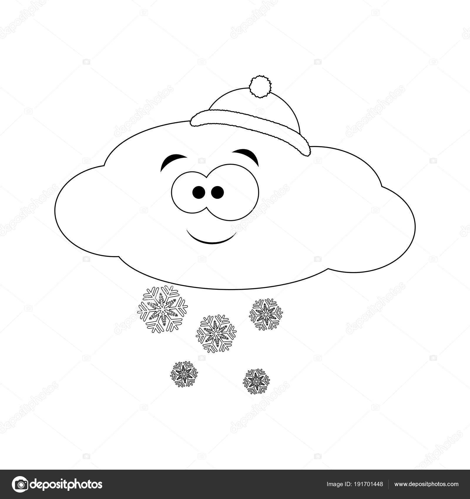 Atractivo Nube De Nieve Para Colorear Ilustración - Ideas Para ...