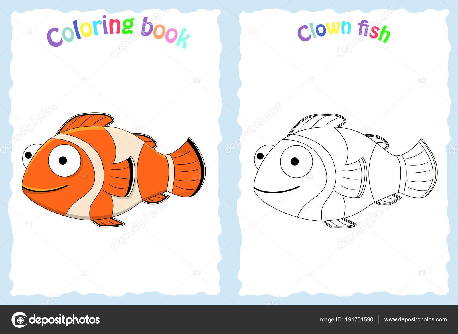 Página De Libro Para Colorear Para Niños En Edad Preescolar Vector