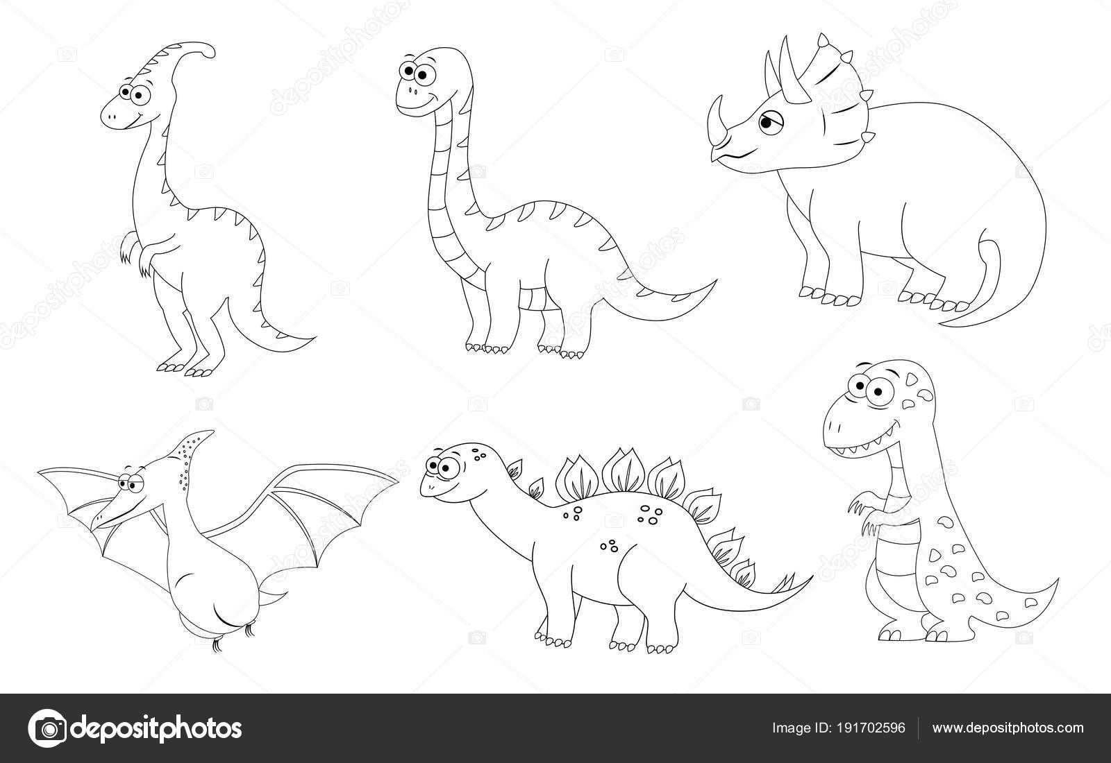 Coloring Page For Preschool Children Set Of Different Cartoon D