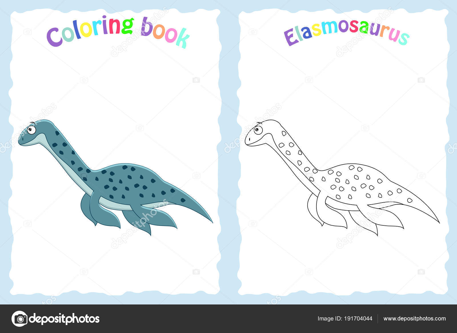 Libro de colorear para niños preescolar con colores elasmosa ...