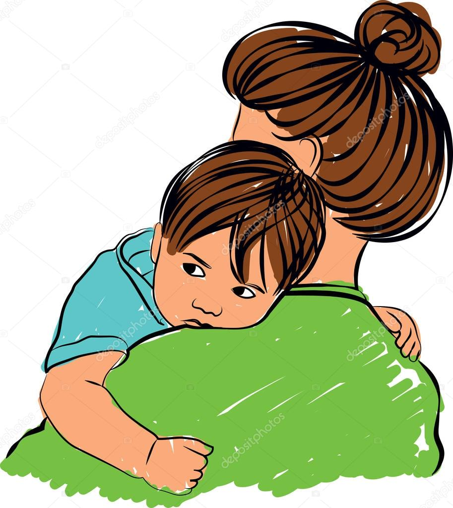 Cllustration: Mother And Son Clip Art