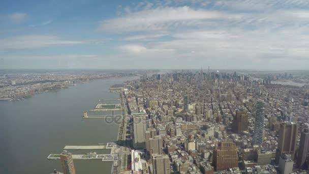 New York panoramatický pohled z jednoho World Trade Center Observatory