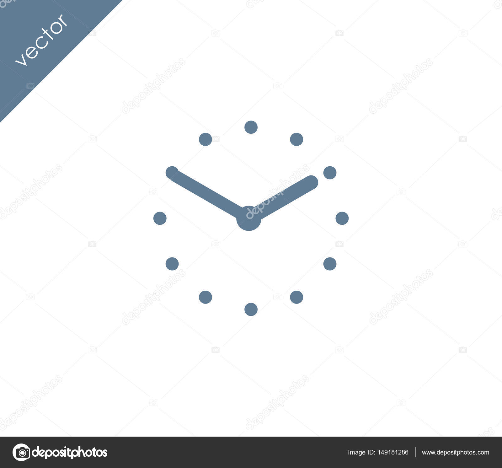 time clock icon stock vector signsandsymbols email com 149181286