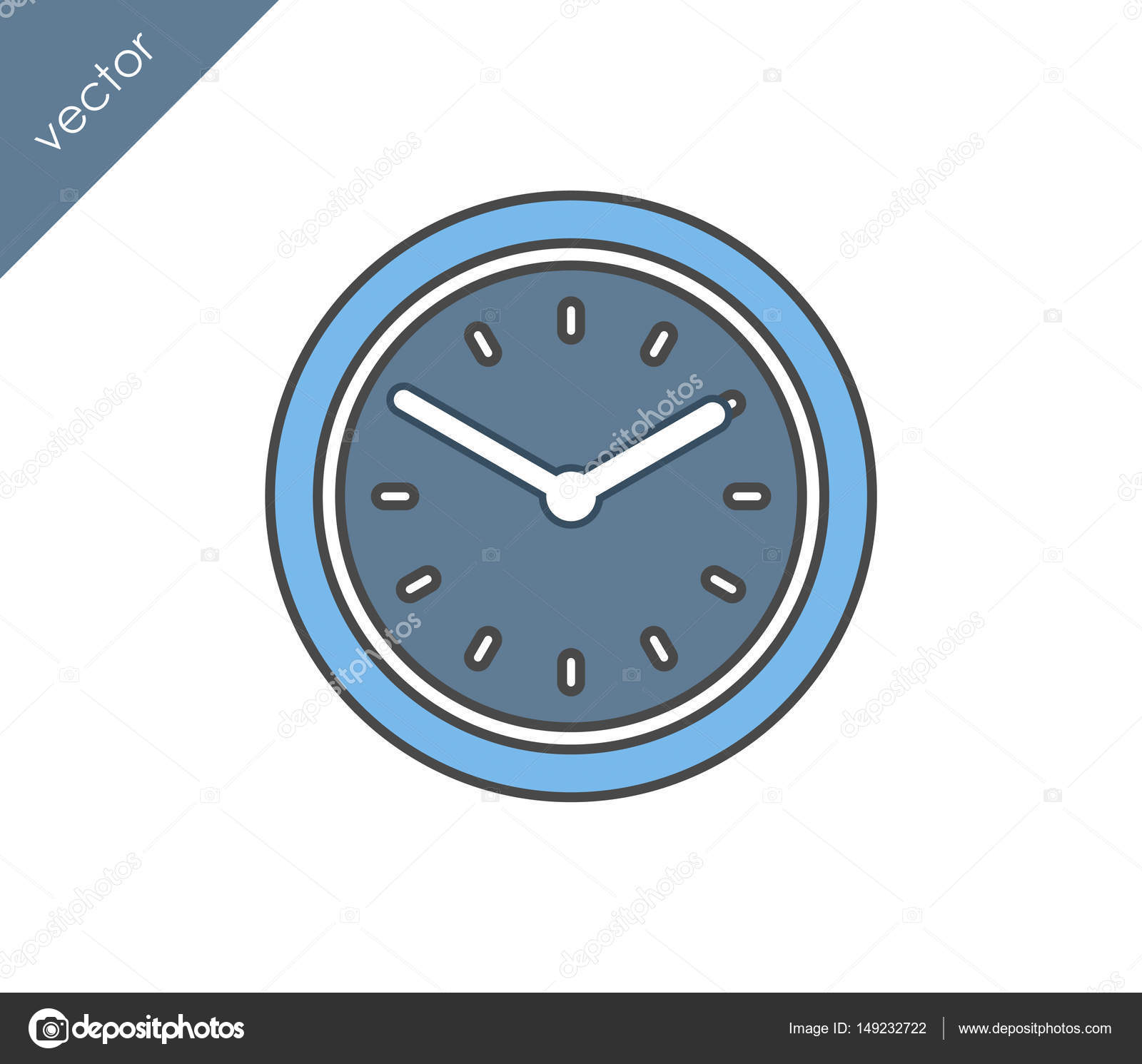 time clock icon stock vector signsandsymbols email com 149232722