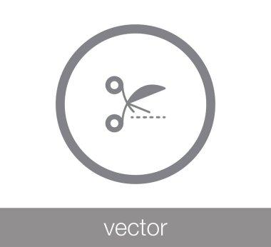 Scissors flat icon.