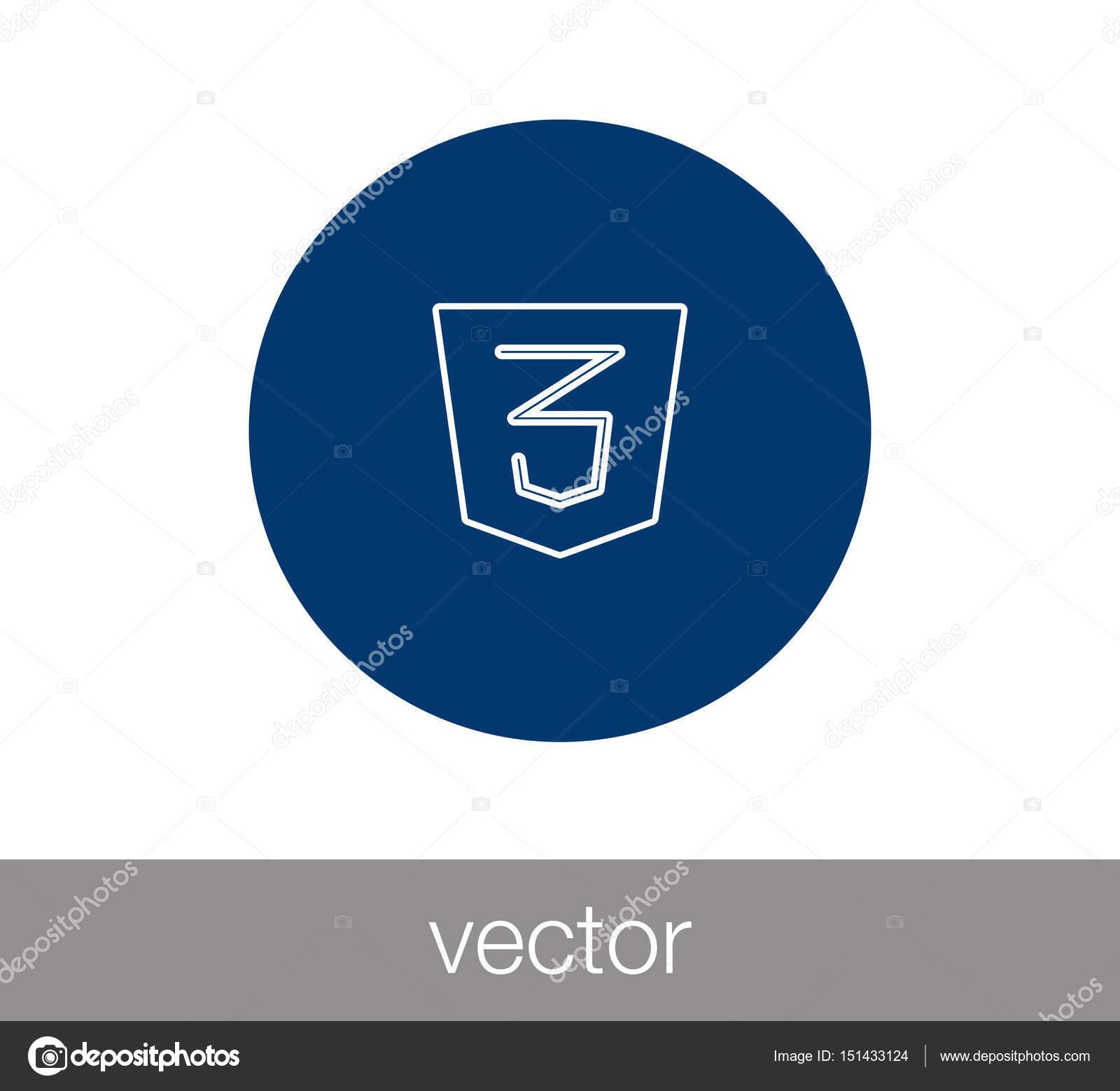 Css 3 Icon Html Icon Stock Vector Signsandsymbolsemail