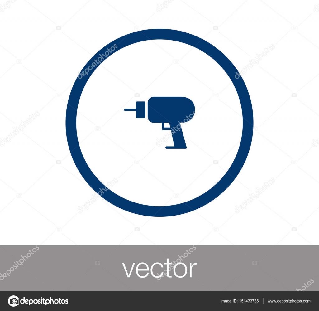Elektrische Bohrmaschine Symbol — Stockvektor © signsandsymbols ...