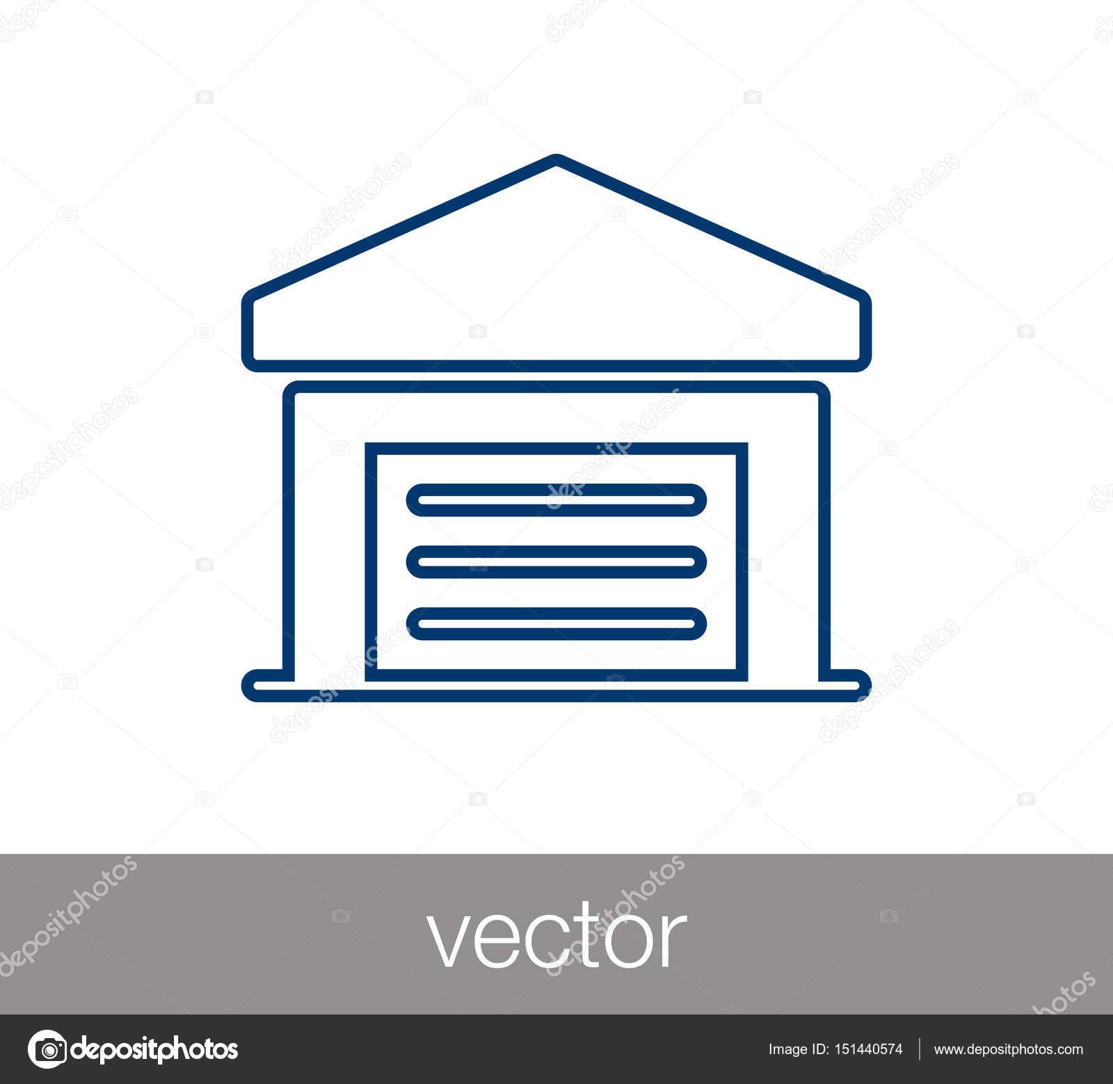 Garage Symbol. Parkplatz Symbol. Lagerung Haus Symbol. Vektor Illustration  U2014 Vektor Von Signsandsymbols@email.com