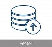 Fotografia Icona del server. icona del centro dati