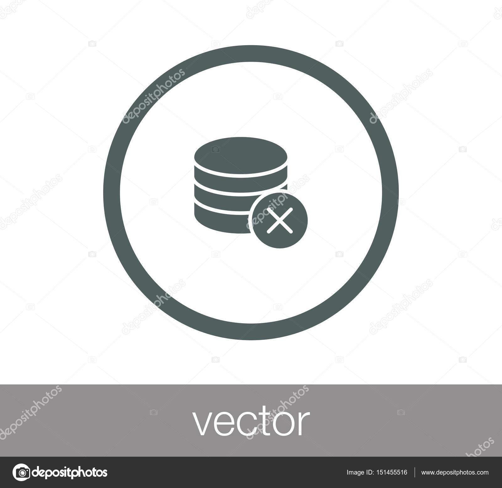 Server icon  data center icon  — Stock Vector