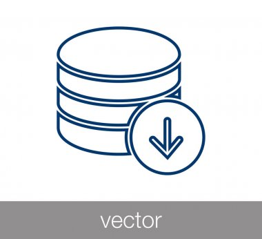 Server icon. data center icon.