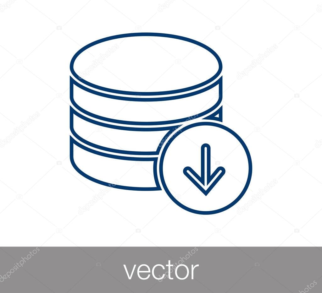 Server icon. data center icon.