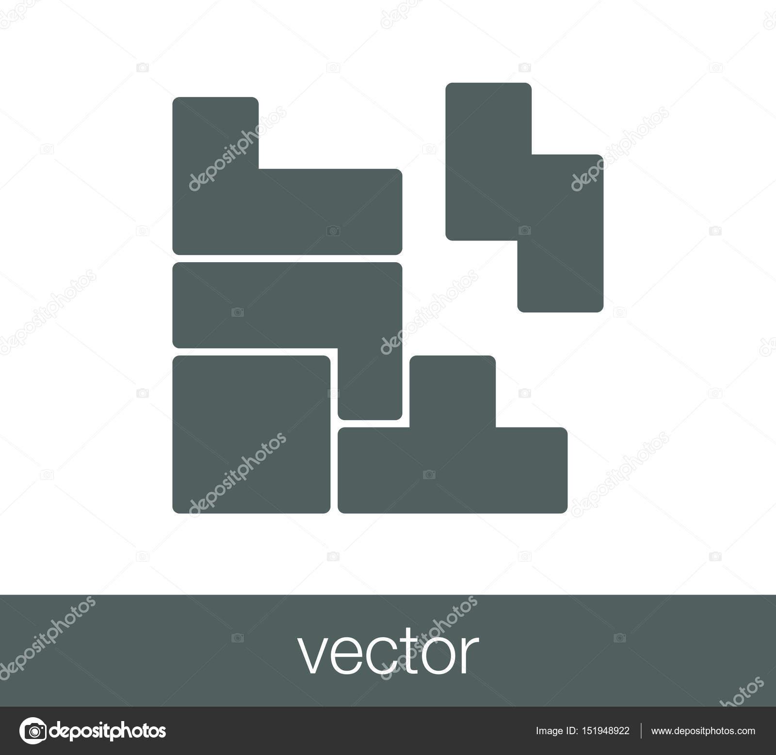 Imagenes Tetris Icono Del Juego Tetris Vector De Stock
