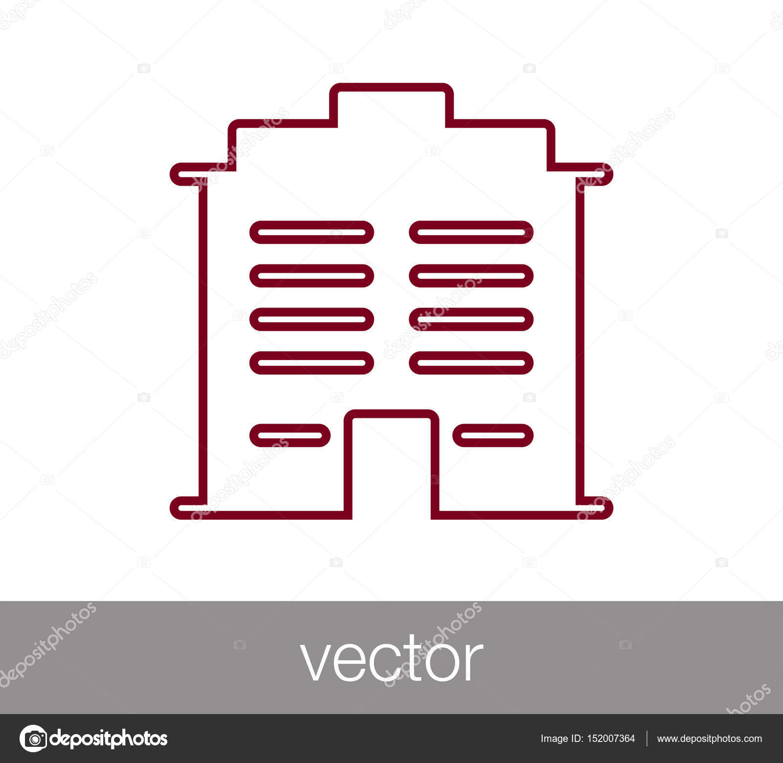 Modern Building Icon Stock Vector C Signsandsymbols Email Com