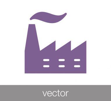 Plant icon. Industry icon.