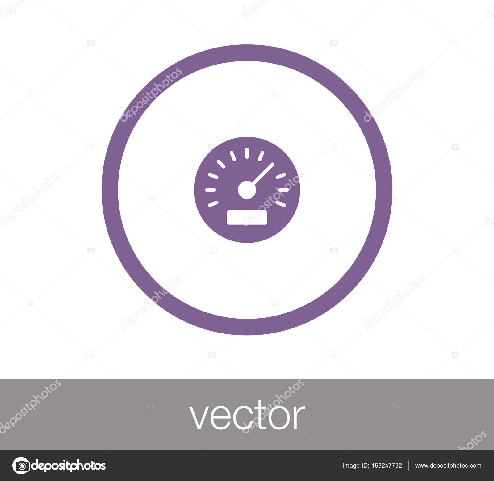 Geschwindigkeit Meter Symbol — Stockvektor © signsandsymbols@email ...