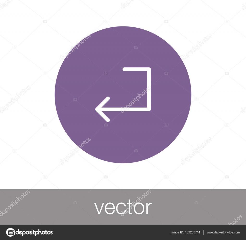 Enter key icon — Stock Vector © signsandsymbols@email com