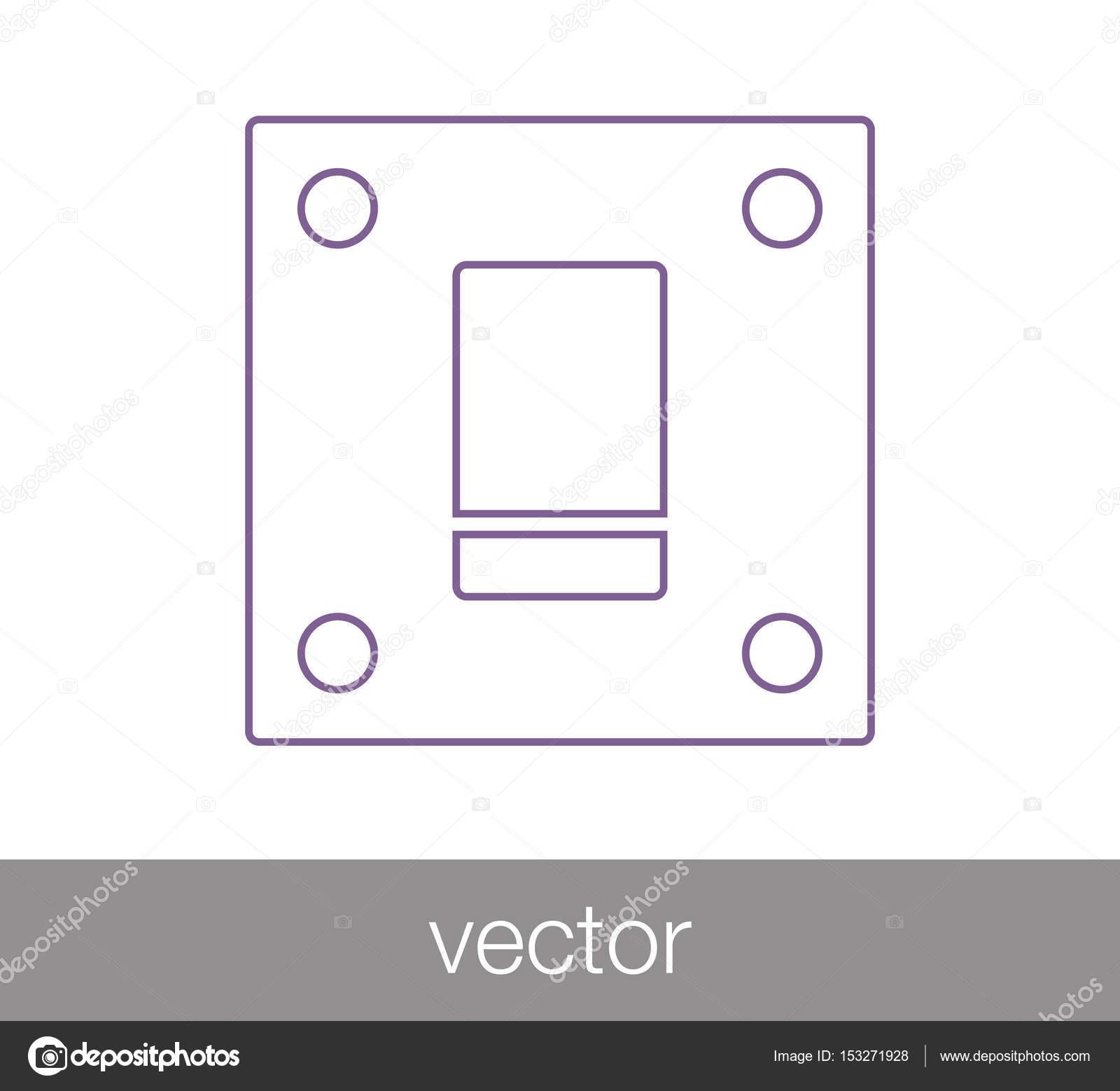 Flache Schalter Symbol — Stockvektor © signsandsymbols@email.com ...
