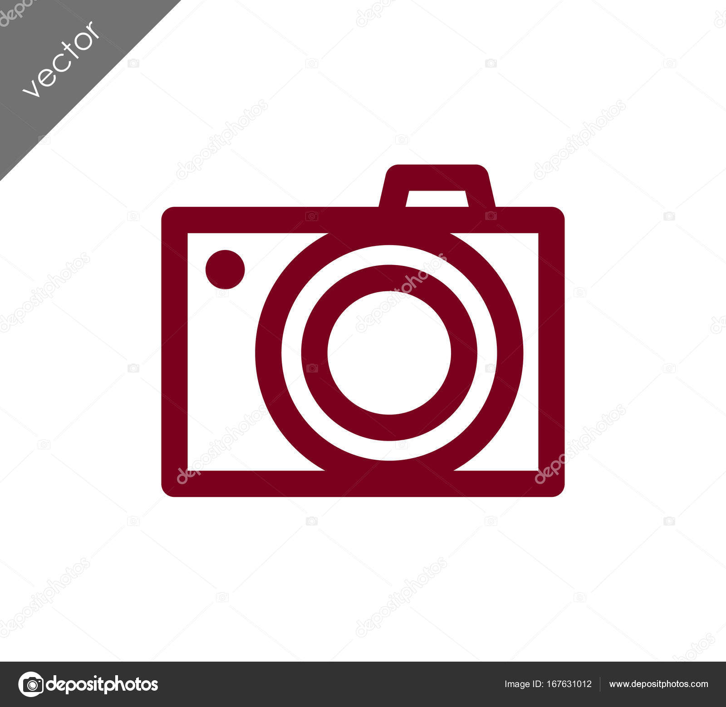 Camera pictogram plat bord stockvector signsandsymbols for Camera email