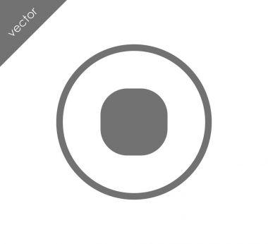 Record flat icon