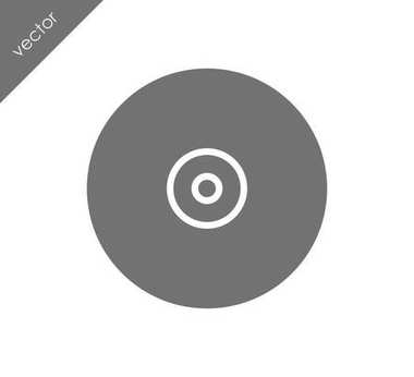 CD flat icon