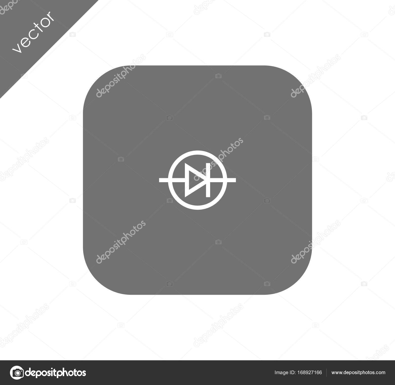 Diode electrical symbol icon — Stock Vector © signsandsymbols@email ...